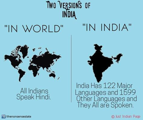 Two Versions Of India In World All Indians Speak Hindi Vs - Where is hindi spoken in the world