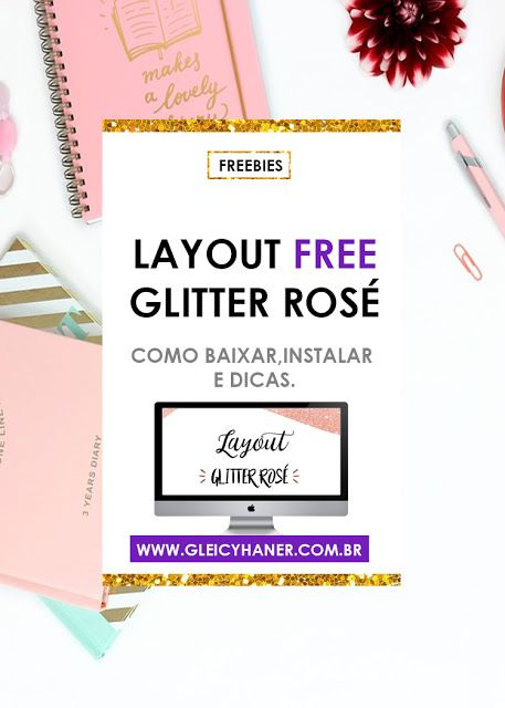 Layout Free Glitter Rose Layout Free Lindo Para A Plataforma