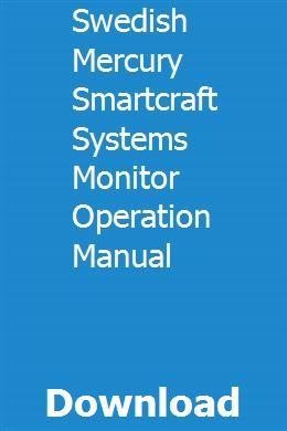 Swedish Mercury Smartcraft Systems Monitor Operation Manual