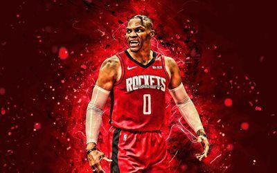 Scarica Sfondi Russell Westbrook 4k Houston Rockets 2020 Nba Rosso Neon Luci Stelle Di Basket Iii Basket Usa Russell Westbrook Houston Rockets Crea Westbrook Wallpapers Russell Westbrook Wallpaper Russell Westbrook