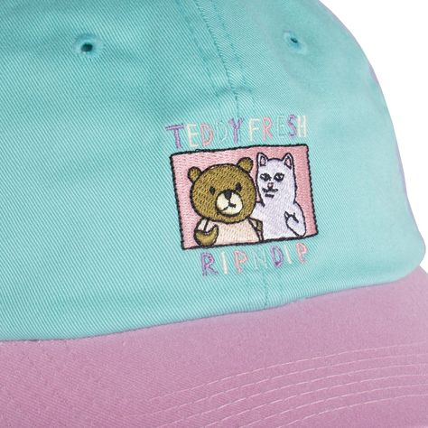 Ripndip X Teddy Fresh Co Branded Dad Hat With Self Fabric Closure And  Embroidered Co Branded Graphic 45dc6eba9c4