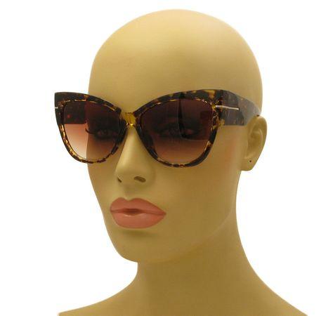 e0fa39953d45d Celebrity Oversized Ford Cat Eye Anoushka Brown Tortoise Thick Frame  Sunglasses  WGS  CatEye