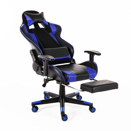 Racing Style Reclining Ergonomic Gaming Chair Walmart Com In 2020 Ergonomic Chair Racing Chair Leather Chair