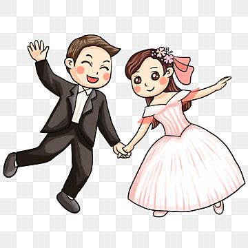 Cartoon Couple Png Images Vector And Psd Files Free Download On Pngtree Wedding Couple Cartoon Couple Cartoon Bride Clipart