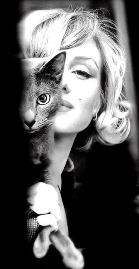 Marilyn Monroe & Cat