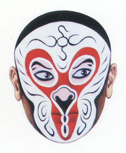 Chinese Opera Mask - The Monkey King