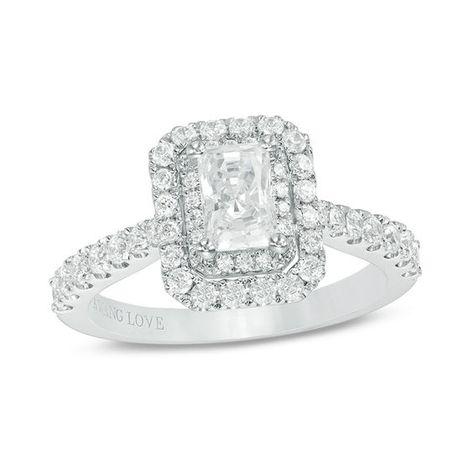 Vera Wang Love Collection 1-1/3 CT. T.w. Emerald-Cut Diamond Double ...