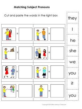 Subject And Object Pronouns Possessive Pronouns And Adjectives Matching Set Object Pronouns Personal Pronouns Nouns And Pronouns Subject and object pronoun worksheets