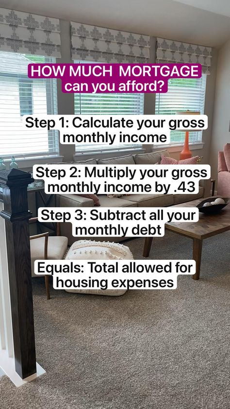 HOW MUCH  MORTGAGE  can you afford? #debt #homebuyingtips #financetips #lifehacks