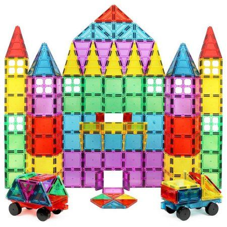 Magnetic Toy Building Block Tiles Set For Kids or Toddlers//20 pieces// 3-D Shape