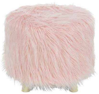 Gorgeous Pink Fluffy Faux Fur Foot Stool Love It Found It At