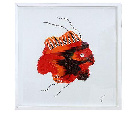 "Zeitgenössische Malerei (gerahmt), Ulrike Rendle: ""Rallye Fish I"" #Artwork #kunstwerk #painting #modernekunst #malerei #galerie #artist #eventart #diekunstmacher #abstraktekunst #modernart #modernpainting #painter #abstractpainting #galleryart"