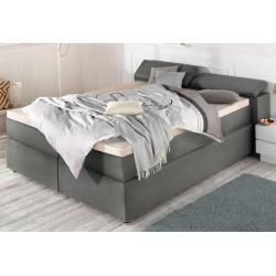 Box Spring Beds With Bed Box Boxspringbetten Mit Bettkasten Breckle Box Spring Bed 90 200 Cm Gray Box Spri In 2020 Box Spring Bed Bed Springs Bedroom Inspirations