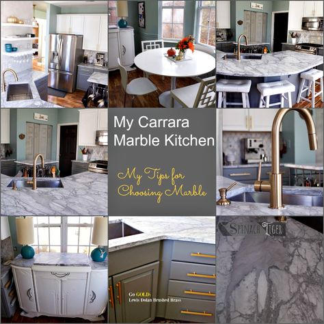 My Carrara Marble Kitchen And Tips For