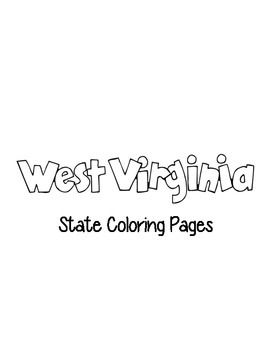 United States Coloring Pages West Virginia Facts States Project