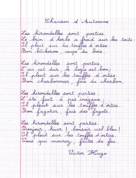 Chanson D Automne Victor Hugo : chanson, automne, victor, Idées, Automne, Automne,, Citation, Chanson