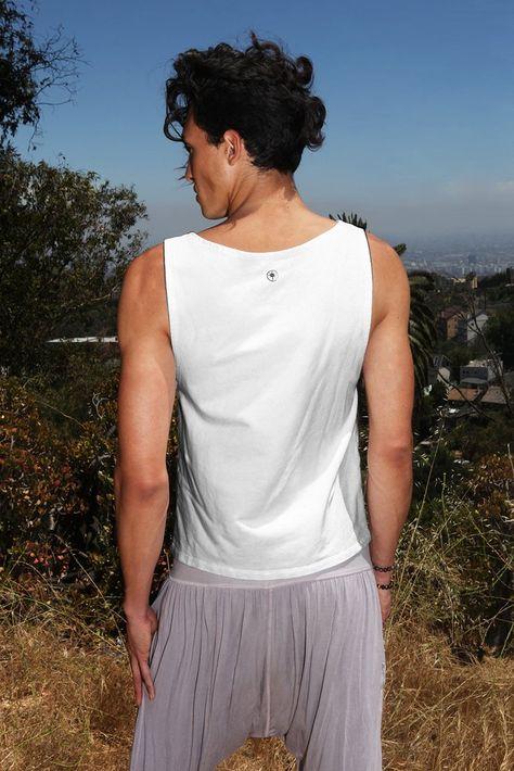 icancu Tank Top colour made to measure Yoga Kundalini Yoga black white i can cu Mens Handmade vest
