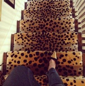 leopard print stair runner