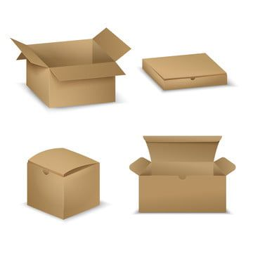 Realistic Cardboard Box Collection Collection Realistic Box Png And Vector With Transparent Background For Free Download Cardboard Cardboard Box Gift Vector