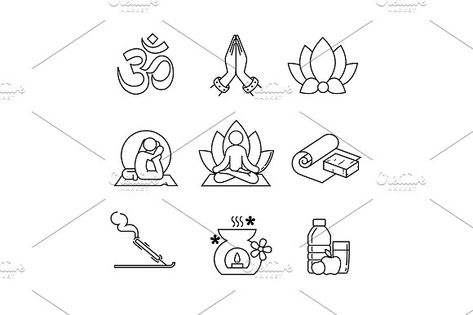 Yoga  by Iconicbestiary on @creativemarket