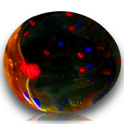 Black Fire Opal   11 83ct Rarest Lightning Ridge Black Fire Solid Opal   eBay