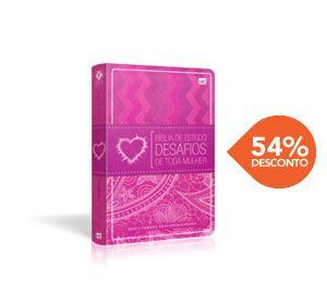 Biblia De Estudo Desafios De Toda Mulher Nvt Luxo Rosa 14 X