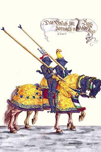 German Knights In Horseback In Procession By H Burkmair 9 Art Print Graphic Art Print Art Painting Prints