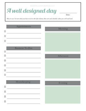 Daily Planner Template Jpg Wellness Design Life Organization