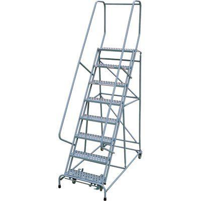 Cotterman Rolling Steel Ladder 450 Lb Capacity 8 Step Platform Ladder Ladder Safety Ladder