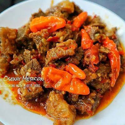 Oseng Mercon Resep Masakan Resep Daging Sapi Resep Daging
