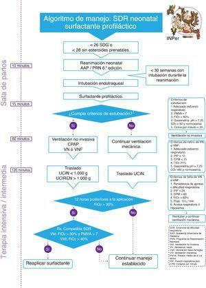 Algoritmo De Manejo Del Sdr Neonatal Surfactante Profiláctico Paramedic Neonatal Map