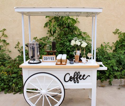 Cutest Coffee Cart in SoCal The Cutest Coffee Cart for Weddings, corporate events and more, Orange County CA Coffee Bar, Wedding Bars, Wedding Cockt. Food Cart Design, Food Truck Design, Cafe Design, Kiosk Design, Gypsy Bar, Bar Mobile, Bar Deco, Coffee Carts, Coffee Shops