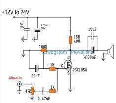Class-A Mosfet Power Amplifier 2SK1058 | Circuit diagram and Circuits