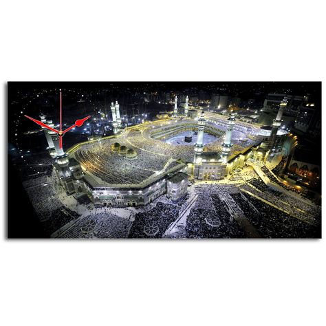 jam dekorasi #mekkah #madinah #haji size 40x80cm ideal