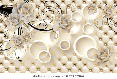 3d Flowers Background With Circle Wallpaper For Walls Wall Wallpaper 3d Wallpaper Design 3d Flowers