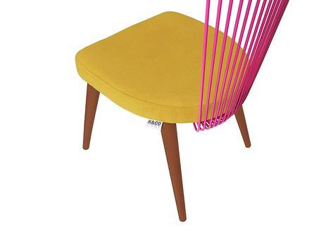 K Co Home Lot De 2 Chaises Sixties Vintage Et Design Jaune