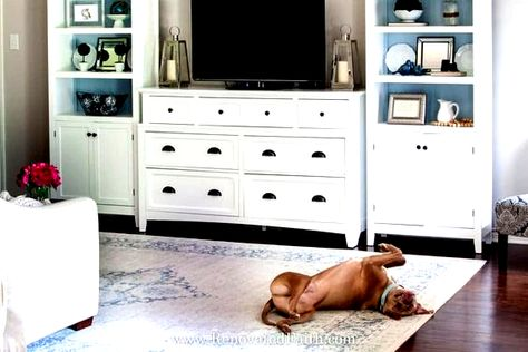 The center point of any family room or living room is the entertainment center. We just live in that era. TV may not be everything, but it is pretty i... | 27-The-No-Build-Wall-Unit-TV-Stand #EntertainmentCenter #DesertDomicile #diy #diylivingroom