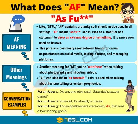 Af Meaning What Does Af Mean Good Teamwork Other Ways To Say