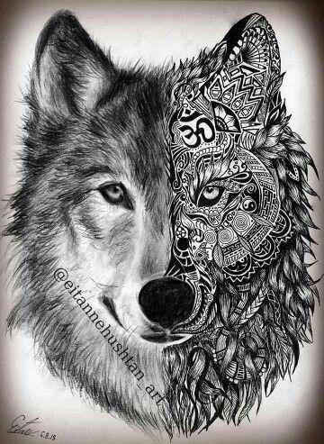 Stunning Wolf Tattoo design