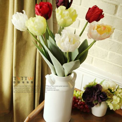 Aliexpress.com : Buy Home accessories decoration parrot Tulip artificial flower silk  5 colors  NO vase free shipping for wedding party from Reliable silk orchid suppliers on Lore 's Decoration Flowers Store. $47.99