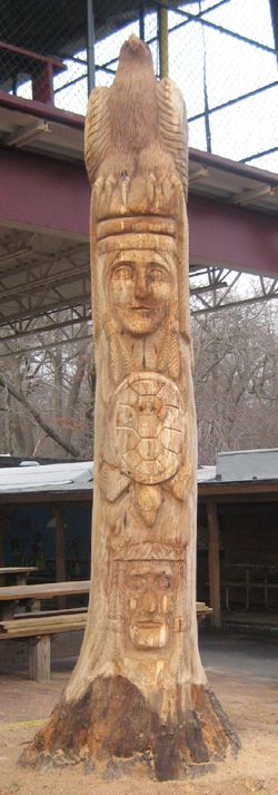 Indian Lake Totem Pole 100cm Totem Pole punishment pile Totem Stake Crest Pole