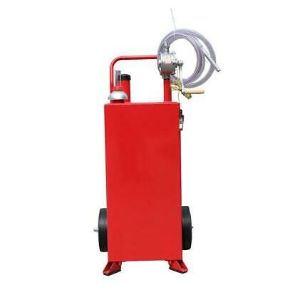 30 Gallon Gas Fuel Diesel Caddy Transfer Tank Container W Rotary Pump 8 Ft Hose In 2020 Fuel Storage Transfer Tanks Jar Storage