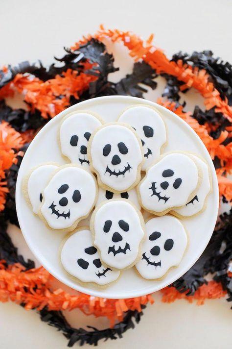 Skeleton cookies from a Spooky Halloween Party on Kara's Party Ideas | KarasPartyIdeas.com (13) #halloweencakes