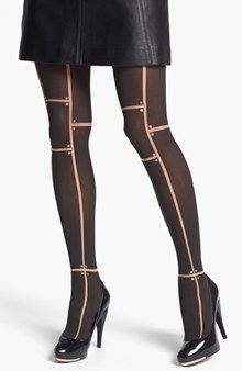 12ad699c7d38b Nudo NF Open-Toe Thigh-Highs (£7.49) ❤ liked on Polyvore featuring ...