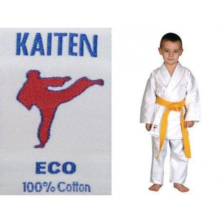 Blanco y Negro IKKEN Pantalones de Karate