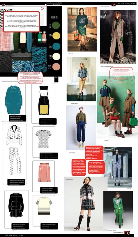 Fashion trends forecast 2019 2020 2021 spring summer SS and fall winter FW with fashion flats, moods, color trends and charts