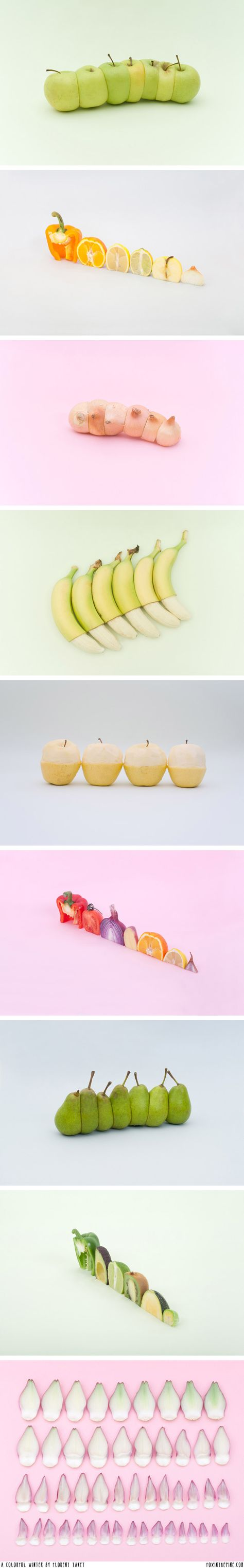 Food Photography- Painting food and rearranging/ cutting/ sorting different food artistically.