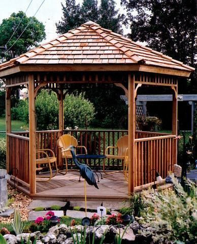 Cedar Sheds 12 Foot Octagon Hexagon Gazebo Kit Hexagon Gazebo Gazebo Sale Backyard Gazebo