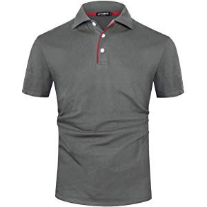 Qioti Herren Poloshirt Tshirt Kurzarm Polohemd Regular Fit Basic Freizeit Herren Einfarbig Polo Shirt
