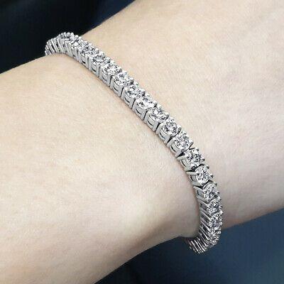 Affordable Womens Real 5 Carat Diamond Tennis Bracelet 14k White Gold D1 649 In 2020 Tennis Bracelet Diamond Tennis Bracelet 12 Carat Diamond